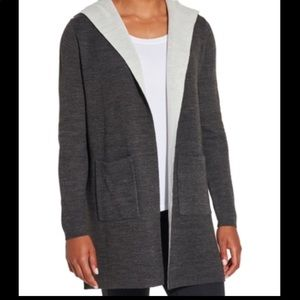 Calia effortless duster cardigan heathered gray